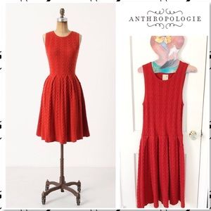 Anthro Far Away From Close Flare&Cable Dress